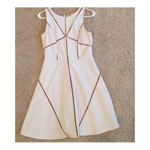 White cocktail dress with nude detail